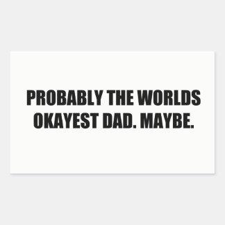 Para: Bien un papá Pegatina Rectangular