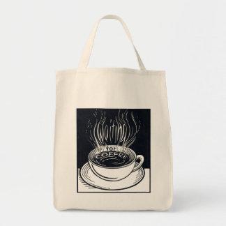 Para bolso de ultramarinos del café que espera