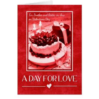 para Brother y la cuñada el el día de San Valentín Tarjeta De Felicitación