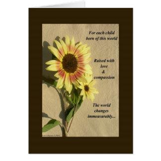 Para cada niño llevado de este mundo tarjeta de felicitación