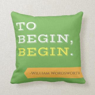 Para comenzar, comience la almohada