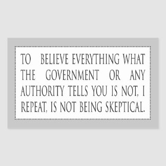 Para creer todo no es pegatina rectangular