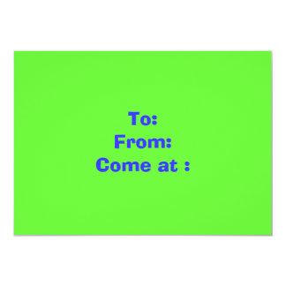 Para: De: Venido en: Invitación 12,7 X 17,8 Cm