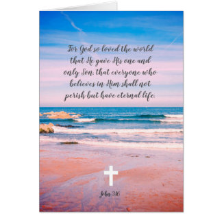 Para dios tan amado el mundo, tarjeta cristiana