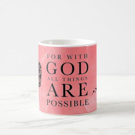 Para dios todas las cosas son taza posible