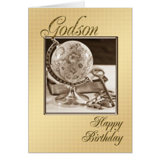 Para el ahijado, una tarjeta de cumpleaños