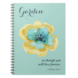 ¡Para el amante del jardín! Cuaderno