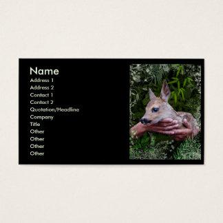 Para el amor de animales tarjeta de negocios