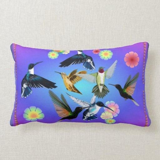 Para el amor de colibríes almohada