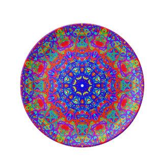 Para el amor de la placa azul de la porcelana platos de cerámica