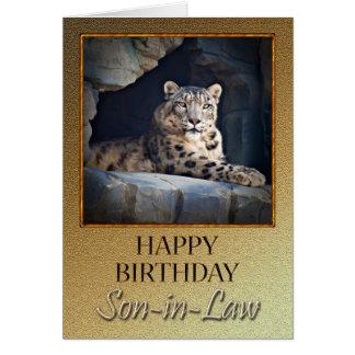 Para el cumpleaños del yerno con una onza tarjetas