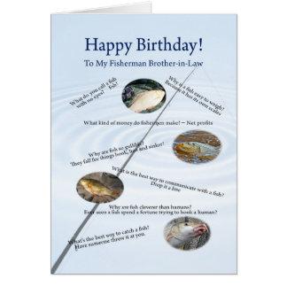 Para el cuñado, pescando la tarjeta de cumpleaños