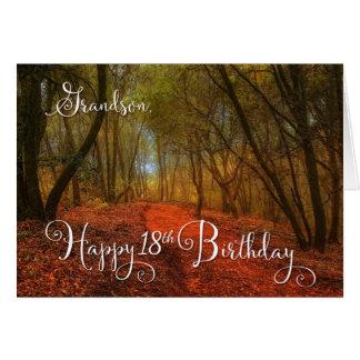 para el décimo octavo cumpleaños del nieto - tarjeta