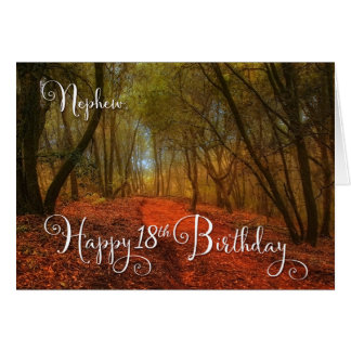 para el décimo octavo cumpleaños del sobrino - tarjeta