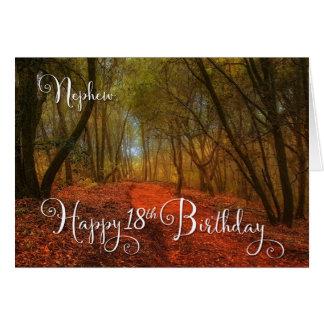 para el décimo octavo cumpleaños del sobrino - tarjeta de felicitación