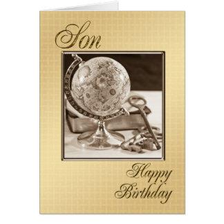 Para el hijo, una tarjeta de cumpleaños
