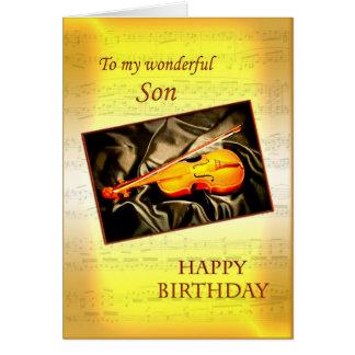 Para el hijo, una tarjeta de cumpleaños musical