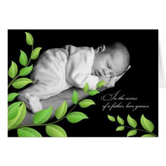 para el papá en el bebé recién nacido del día de tarjeta de felicitación