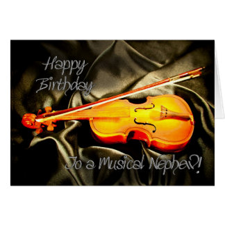 Para el sobrino, una tarjeta de cumpleaños musical