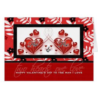Para el socio gay - el día de San Valentín el suyo Felicitaciones