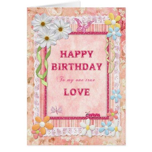 Para el un amor de I, tarjeta de cumpleaños del ar