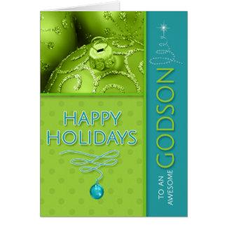 para el verde del ahijado y el día de fiesta tarjeta