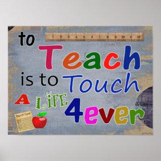 Para enseñar -- Impresión del arte -- aprecio del