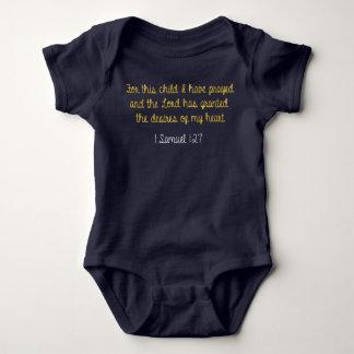 Para este niño he rogado, 1 biblia de Samuel Body Para Bebé