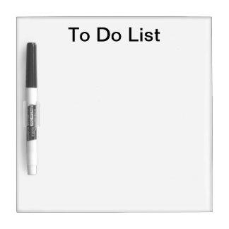 Para hacer el tablero seco de la lista