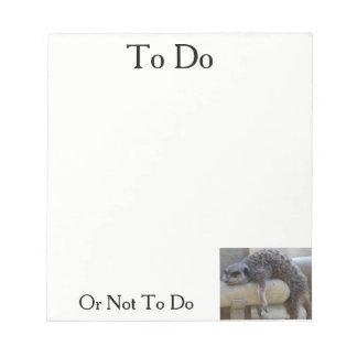 Para hacer o no bloc de notas