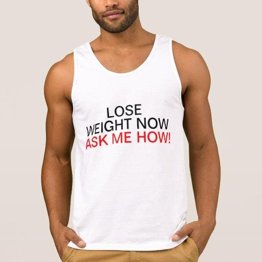 Para hombre pierda el peso ahora me preguntan cómo camisetas