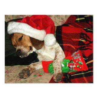 Para invitación Santa-Snoopy del día de fiesta de