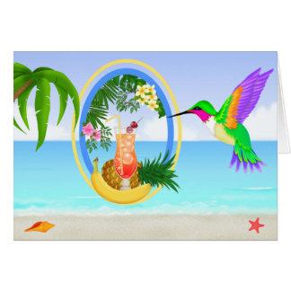 Para J - tarjeta en blanco del paraíso de la playa