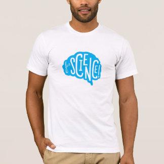 ¡Para la ciencia! La camiseta de los hombres -