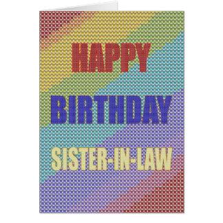 Para la cuñada, una tarjeta de cumpleaños cruzada