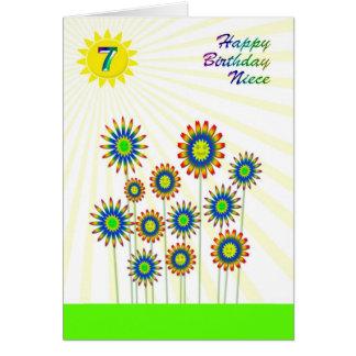 Para la edad 7 de la sobrina, una tarjeta feliz de