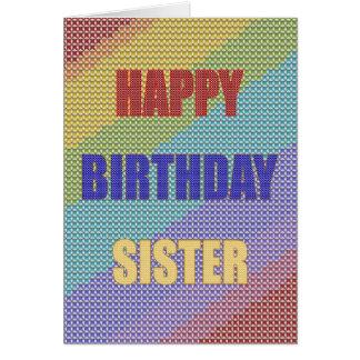 Para la hermana, una tarjeta de cumpleaños cruzada