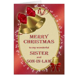 Para la hermana y el yerno, tarjeta de Navidad