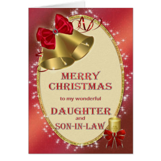 Para la hija y el yerno, tarjeta de Navidad