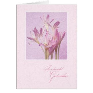 Para la madrina el el día de madre tarjeta de felicitación