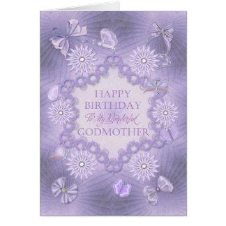Para la madrina, tarjeta de cumpleaños de la lila