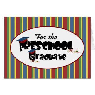 Para la tarjeta graduada preescolar de la