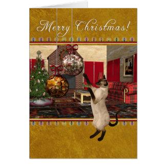 Para la tarjeta veterinaria de las Felices Navidad