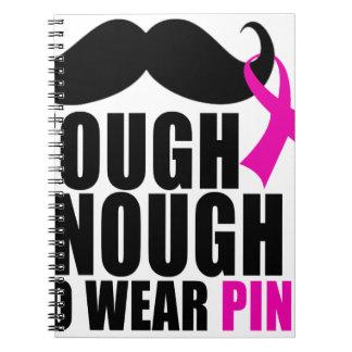 Para llevar el rosa para la conciencia del cáncer cuaderno