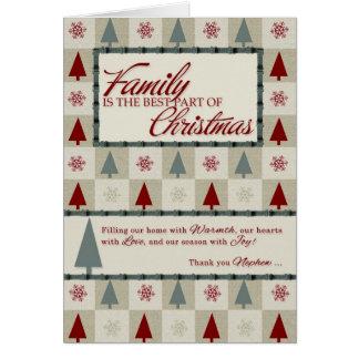 Para los árboles de navidad del sobrino en verde y tarjeton