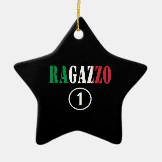 Para los novios italianos: Uno. de Ragazzo Numero Adorno De Cerámica En Forma De Estrella