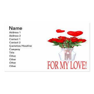 Para mi amor tarjetas de visita