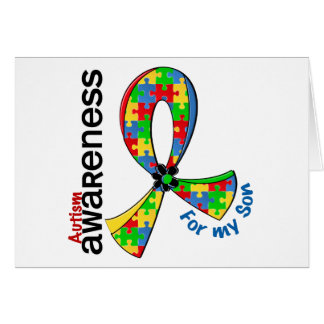 Para mi autismo del hijo tarjeta de felicitación