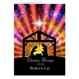 Para mi cuñado, navidad tarjeta de felicitación
