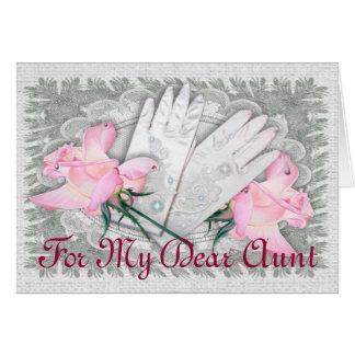 Para mi estimada tía tarjeta de felicitación